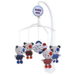 Karuzelka pluszowa Baby Mix TK-463M Blue Red Cats